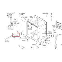 Nõudepesumasina ülemise korvi siini kork tagumine BEKO 1732840100