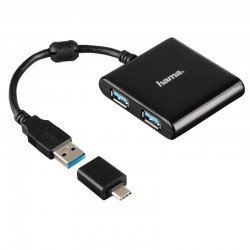 USB Jagaja Hama 4 pesa USB...