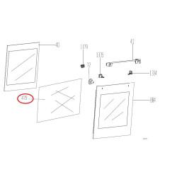 BEKO elektripliidi ukse keskmine klaas 290440431