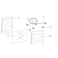 BEKO elektripliidi klaasi kinnitus kronstein parem ülemine  250440414