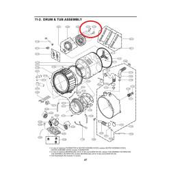 LG pesumasina mootori polt 4040FR4051C