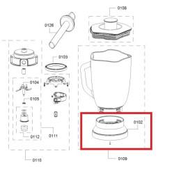 Bosch blenderi kannu adapter 12009096