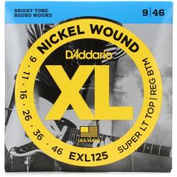 Kitarrikeeled DAddario EXL125