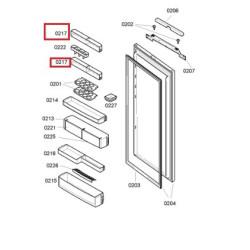Külmiku ukseriiul Bosch/ Siemens  00449993