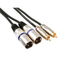кабель 2 x RCA  - 2 x XLR, 1M