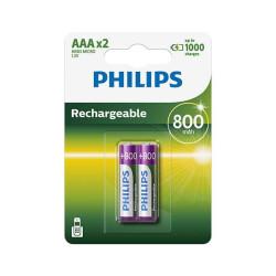 Akupatarei Philips AAA (2 tk)
