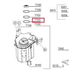 Nõudepesumasina soolapaagi tihend 1766470100