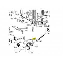 Nõudepesumasina põhja tihend 1740050300