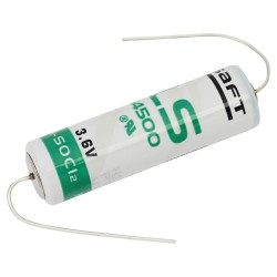 SAFT LS14500 AA 3,6V Li-SOCl2 jootevuntsidega
