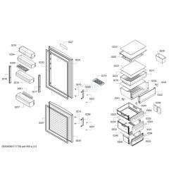 Контейнер для овощей для холодильника Bosch/Siemens 00705964