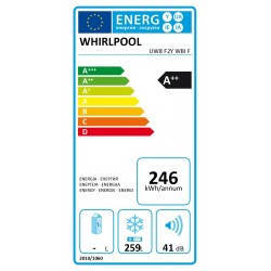 Jäävaba sügavkülmik Whirlpool UW8F2YWBIF (259 L)
