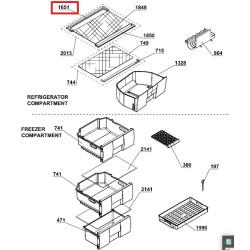 BEKO külmiku klaasriiuli tagumine plastikäär CSA29030