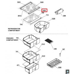 BEKO külmiku klaasriiuli esimene plastikäär CSA29030