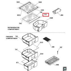BEKO külmiku alumise klaasriiuli esimene plastikäär CSA29030