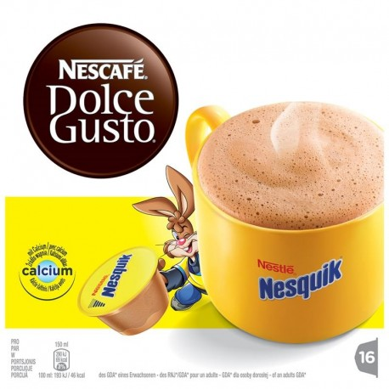 Kakaokapslid Nescafe Dolce Gusto Nesquik Nestle, 16tk
