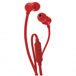 Kõrvaklapid JBLT110RED in-ear